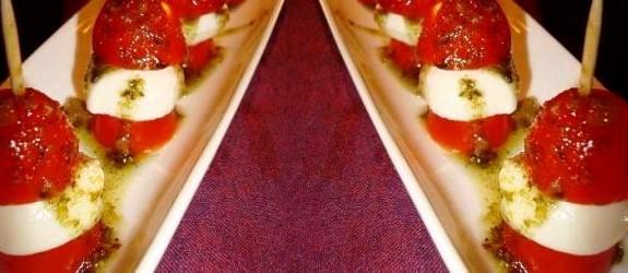 Tapas: Tomat og ost på pestopind – Stjerneskud opskrifter